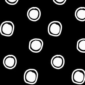 bulles - blanc sur noir
