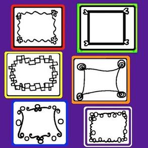 Frames on Purple