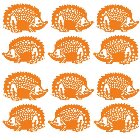 Orange  Snuffy fabric by feralartist on Spoonflower - custom fabric