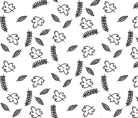 Falling leaves fabric by filambulle on Spoonflower - custom fabric