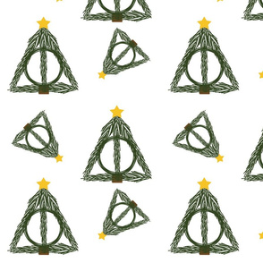 Deathly Hallows Christmas Tree Gift Wrap