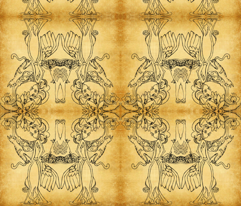 goose_is_cooked__3_-ed fabric by lil_chick_ent_ on Spoonflower - custom fabric