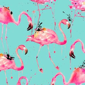 flamingo repeat on aqua!