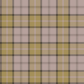 "Dunbar tartan, 6"", custom colorway yellow/taupe"