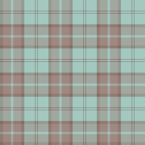 "Dunbar tartan, 6"", custom colorway mint/tan"