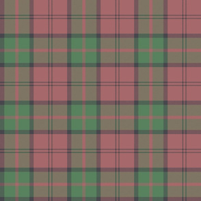 "Dunbar tartan, 6"", custom colorway soft red/green"