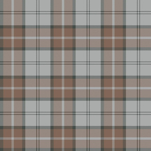 "Dunbar tartan, 6"", custom colorway light grey/brown"