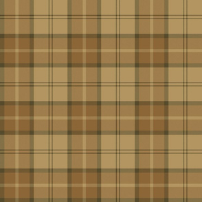 "Dunbar tartan, 6"", custom colorway brown/gold"