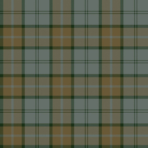 "Dunbar tartan, 6"", custom colorway brown/cool grey"