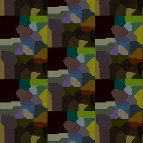 Muted Quilt Mosaic Effect on Black