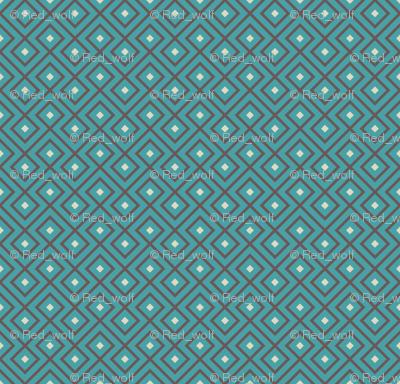 Geometric Pattern: Loop Diamond: Blue/Brown