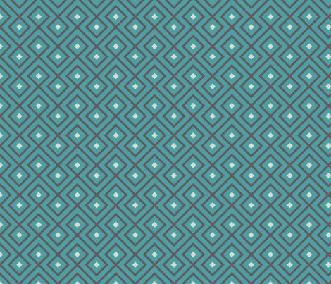 Geometric Pattern: Loop Diamond: Blue/Brown fabric by red_wolf on Spoonflower - custom fabric