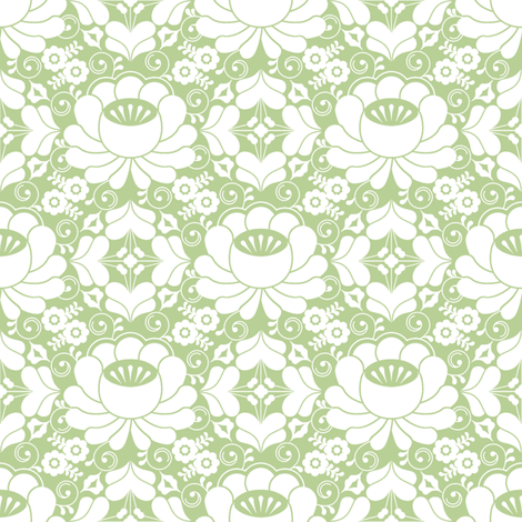 Elena basil fabric by lilyoake on Spoonflower - custom fabric