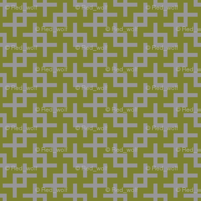 Geometric Pattern: Double Angle: Grey