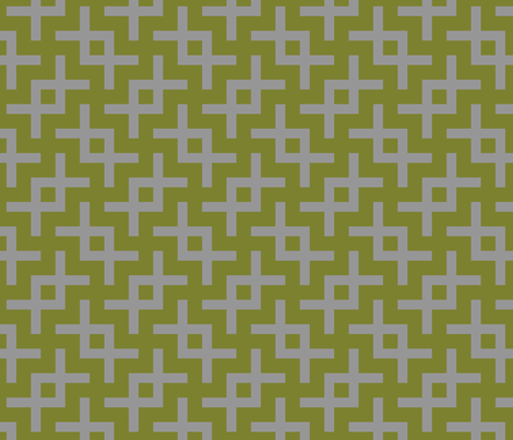 Geometric Pattern: Double Angle: Grey fabric by red_wolf on Spoonflower - custom fabric