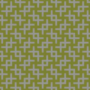 Geometric Pattern: Double Angle: Grey
