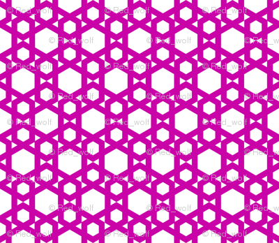 Geometric Pattern: Hexagon: Pink