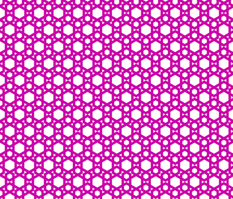 Geometric Pattern: Hexagon: Pink fabric by red_wolf on Spoonflower - custom fabric