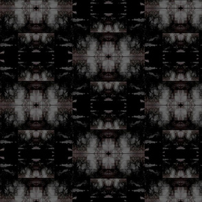 Black and Grey Ikat Effect