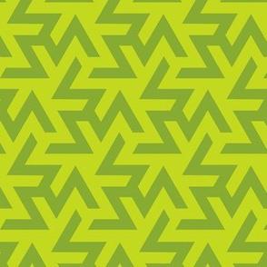 Geometric Pattern: Triskelion: Green