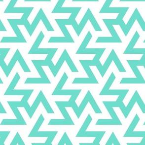 Geometric Pattern: Triskelion: Blue