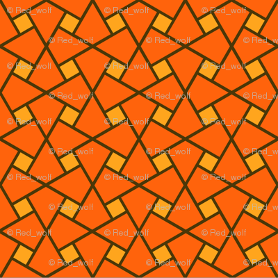 Geometric Pattern: Square Twist: Orange