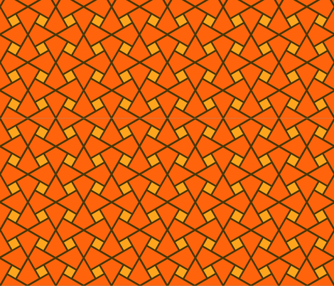 Geometric Pattern: Square Twist: Orange fabric by red_wolf on Spoonflower - custom fabric