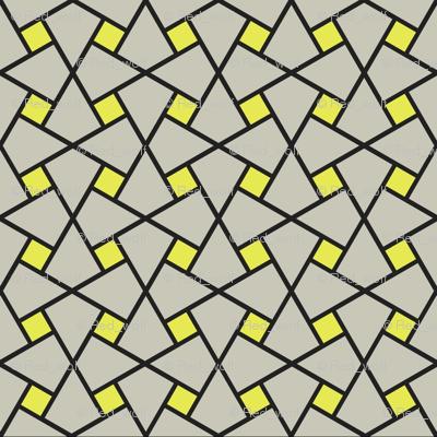 Geometric Pattern: Square Twist: Grey