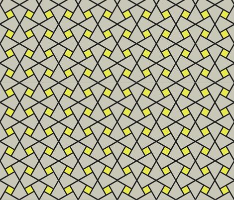 Geometric Pattern: Square Twist: Grey fabric by red_wolf on Spoonflower - custom fabric