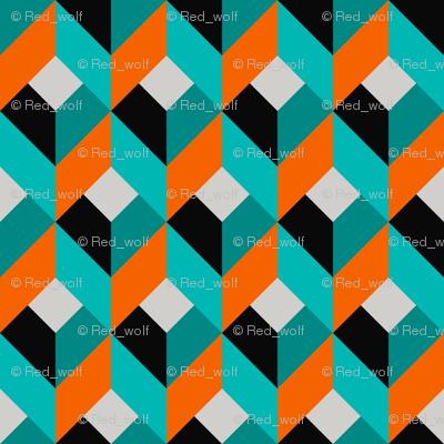 Geometric Pattern: Box: Blue