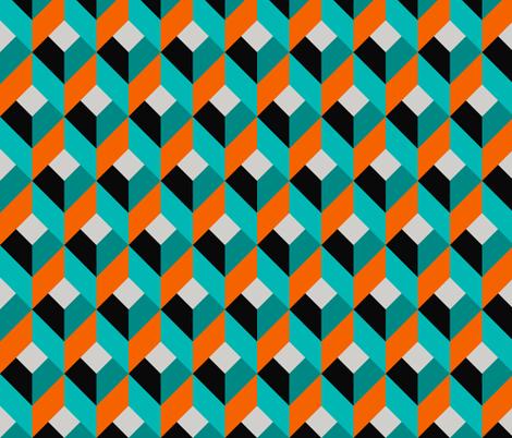 Geometric Pattern: Box: Blue fabric by red_wolf on Spoonflower - custom fabric