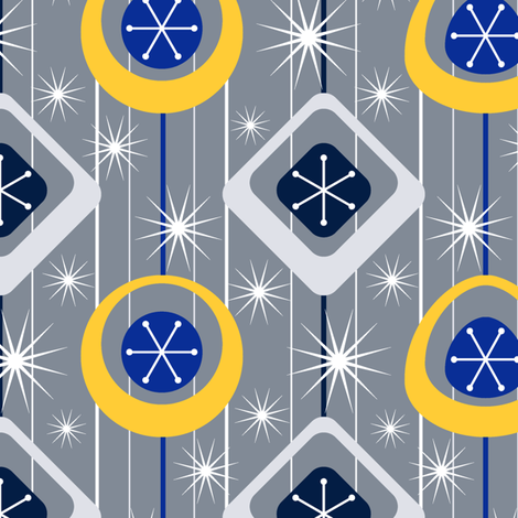 Mod Baubles fabric by jjtrends on Spoonflower - custom fabric
