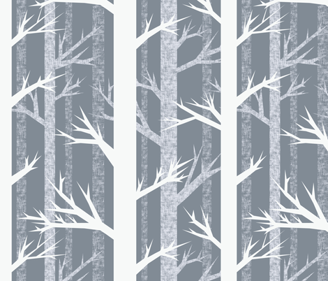 Winter Woods fabric by ceciliamok on Spoonflower - custom fabric