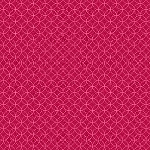 magenta with pink interlacing circles