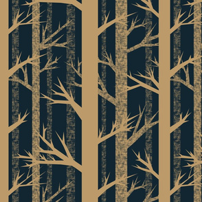 Winter Woods {Gold/Midnight}