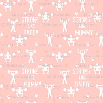 Strong mummy daddy peach pink