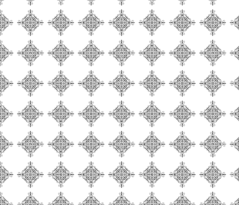 Black and white lace squares fabric by elizabethmay on Spoonflower - custom fabric