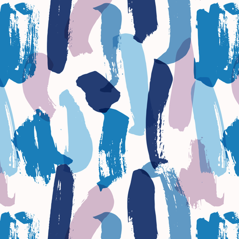 Abstract brush strokes fabric by julia_dreams on Spoonflower - custom fabric