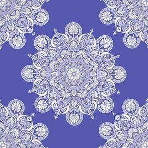 fortune mandala wedgewood blue #5759af