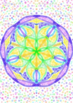 Twirling Stars on Pastel Speckles