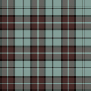 "Dunbar tartan, 6"", custom colorway mint/brown"