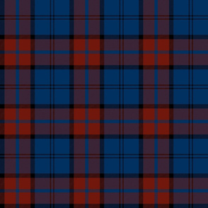 "Dunbar tartan, 6"", custom colorway dark red/blue"
