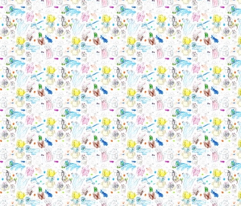 kids drawings 3 fabric by marta_strausa on Spoonflower - custom fabric