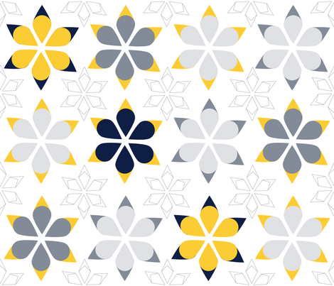 Snow Flakes fabric by colo_alonso on Spoonflower - custom fabric