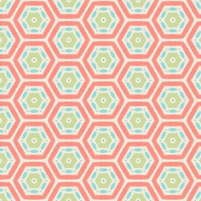 Coral Hexagons