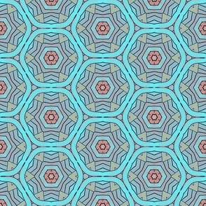 Turquoise Abstract Geometric