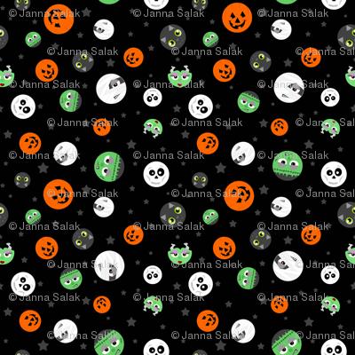 Halloween Polka Dot Faces