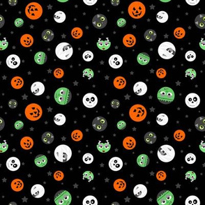 Halloween Polka Dot Faces