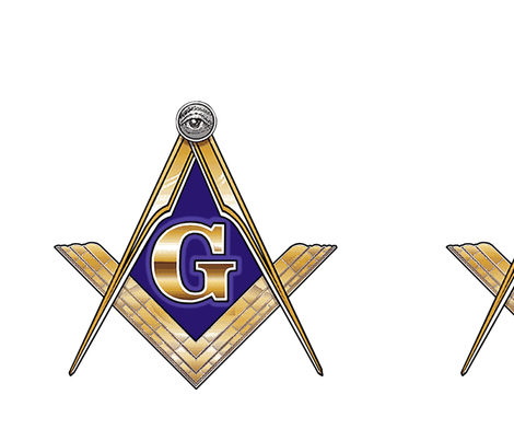 "12"" Masonic Square Compass Gold  fabric by elemental-design on Spoonflower - custom fabric"