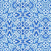 Scandinavian Lace in cobalt blue - Large Scale